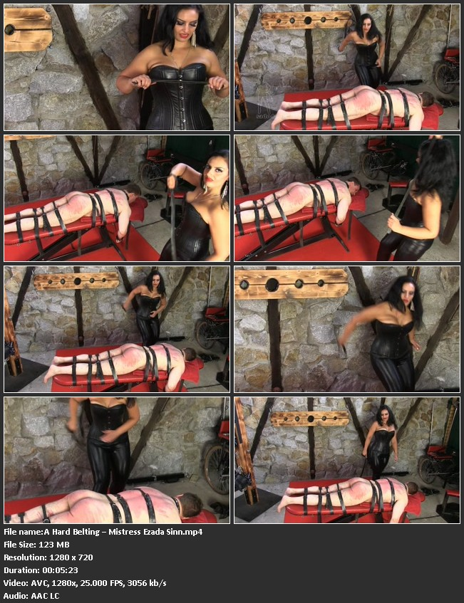 Supersadistic lady mistress Ezada is in a punishment mode today.