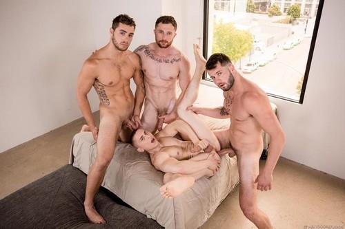 NextDoorBuddies – Tag Teaming Dante (Dante Martin, Markie More, Johnny Hill & Carter Woods) Bareback