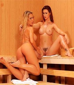 Capri Cavanni & Karlie Montana-Sauna Del Amor