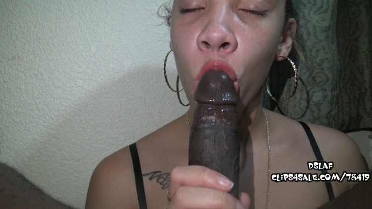 Homemade Ebony Dick Sucking