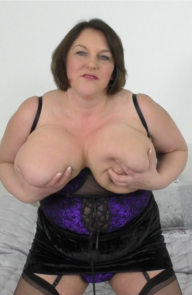 British big breasted housewife Carol Brown playing with herself