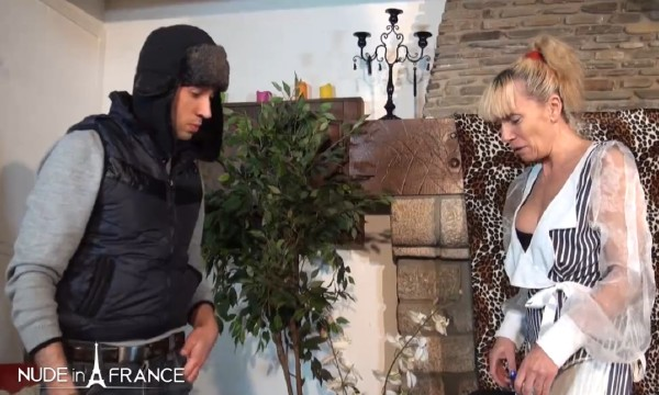 A mature cougar gets her ass hammered by a young technician (Shana Mour) NudeInFrance [SD]