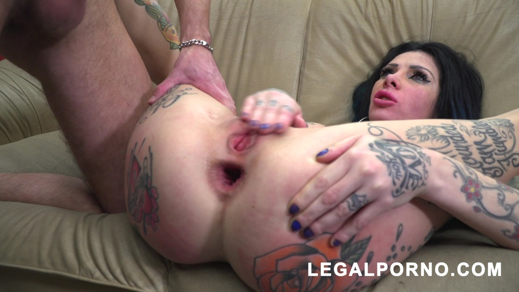 LegalPorno - Gonzo_com - Megan Inky first time on LP with nasty deepthroat & balls deep DP S006