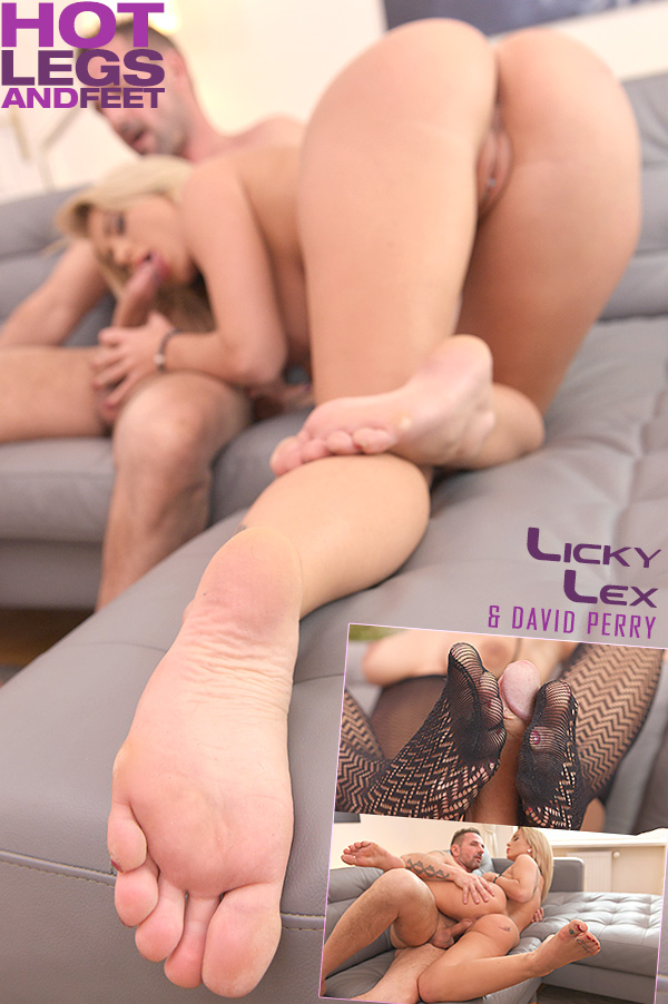 Licky Lex ~ Cum All Over Sexy Feet ~ HotLegsAndFeet / DDFNetwork ~ SD 540p