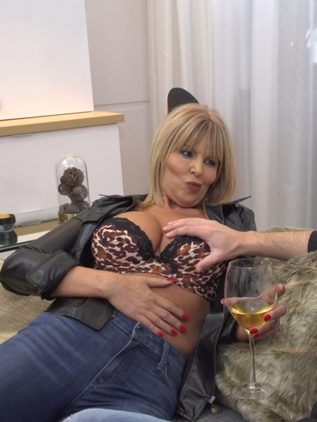 British MILF Miss Gabrielle Fox has sex with a dirty old man