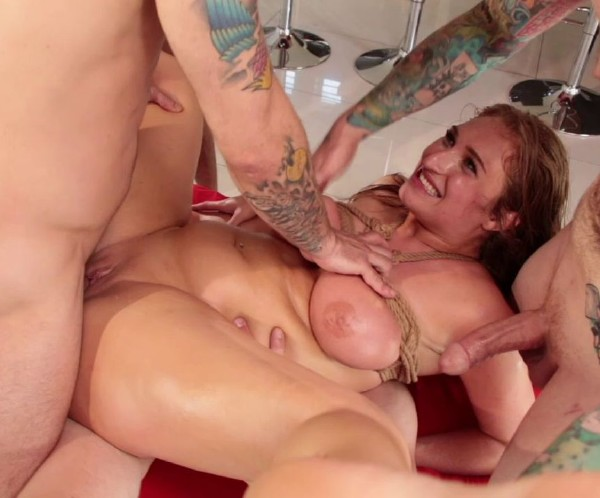 Bondage Porn with Skylar Snow in Takes 5 Hard Cocks In Every Hungry Hole [HD - 720p - 2.52 Gb] - BoundGangBangs-Kink