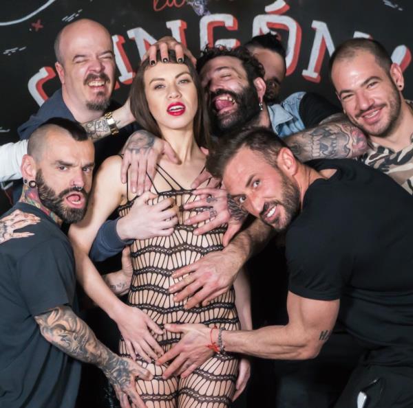 BDSM group session with obedient Tiffany (Tiffany Doll) CrowdBondage/PornDoePremium [HD]