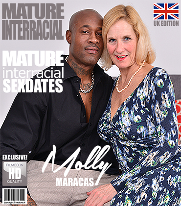 British housewife Molly Maracas goes interracia (Molly Maracas (54)) Mature [SD]
