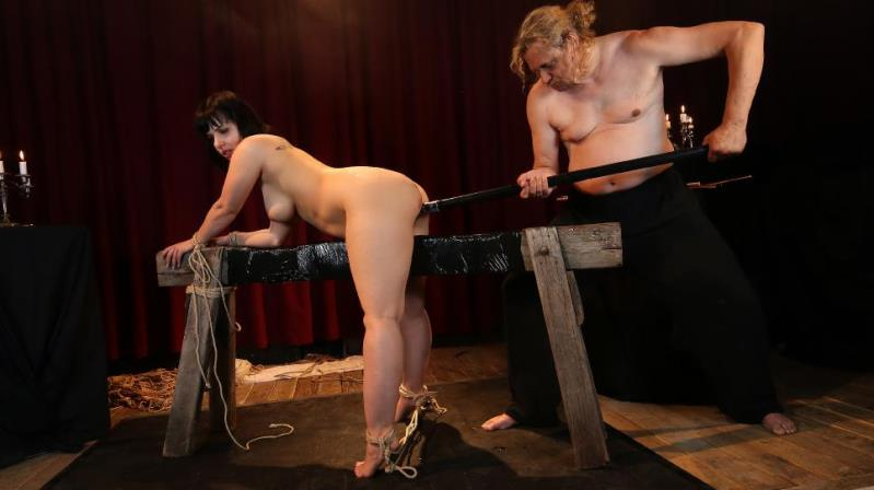 Pina Deluxe - Wild bondage and torture session with chubby German slave  Pina Deluxe PT 2