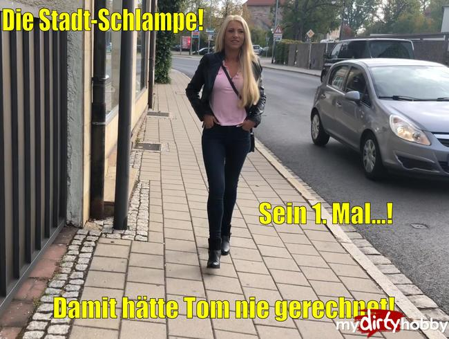 Daynia - Die Stadt-Schlampe  Damit haette Tom nie gerechnet Sein 1. Mal / The city slut | Tom would never have expected that! His 1st time ...! [FullHD 1080]