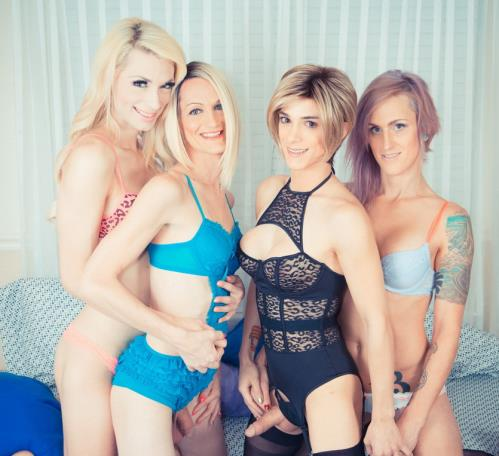 Sami Price, Nina Lawless, Brooke Zanell, & Holly Parker - Fierce-some T-Girl Foursome Part 1 and Part 2! (2018/HD)