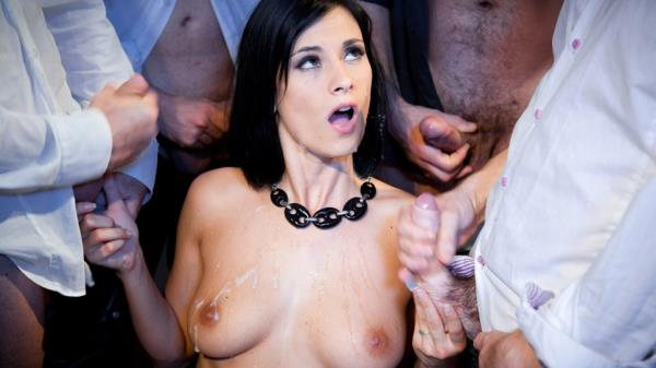 Claire Castel - Fucked By 4 Men (2018/FullHD)