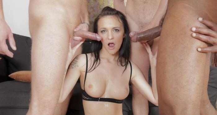 GroupSexGames: Belle Claire - Belle Claire getting a cum shower [FullHD 1080]