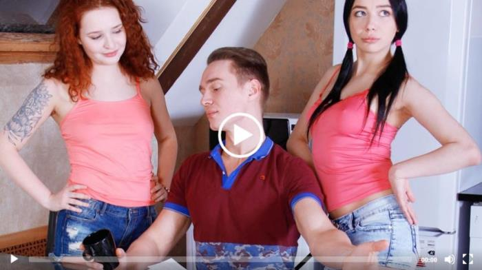 Creampie-Angels / TeenMegaWorld - Emily Bender - Shelley Bliss - Dude explores two hotties (1080p / FullHD)