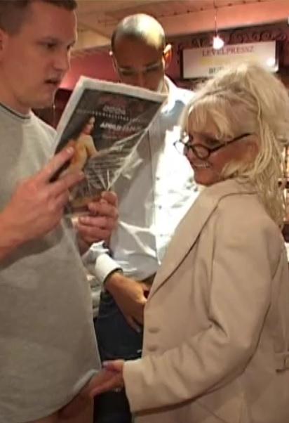 Blonde euro Granny castinged by BBC Tony