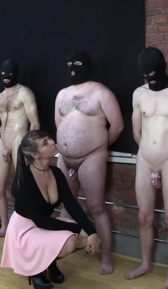 Chloe Peruses the Stables for a Ballbusting Slave