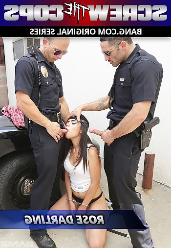 Rose Darling Gets Double Teamed By Two Cops Against Their Patrol Car (Rose Darling) Bang [SD]
