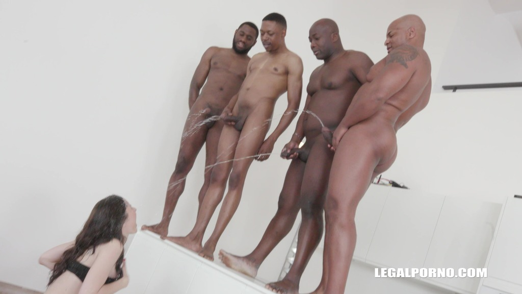 LegalPorno - Interracial Vision - Sex dream comes true for Linda Love with four black guys IV203
