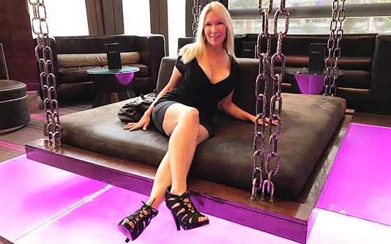 Adria - Gorgeous blonde MILF first timer (2018/HD)