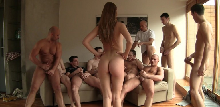 ALEXIS CRYSTAL: HARD - GANG BANG PARTY (FullHD / 1080p / 2018) [WoodmanCastingX]