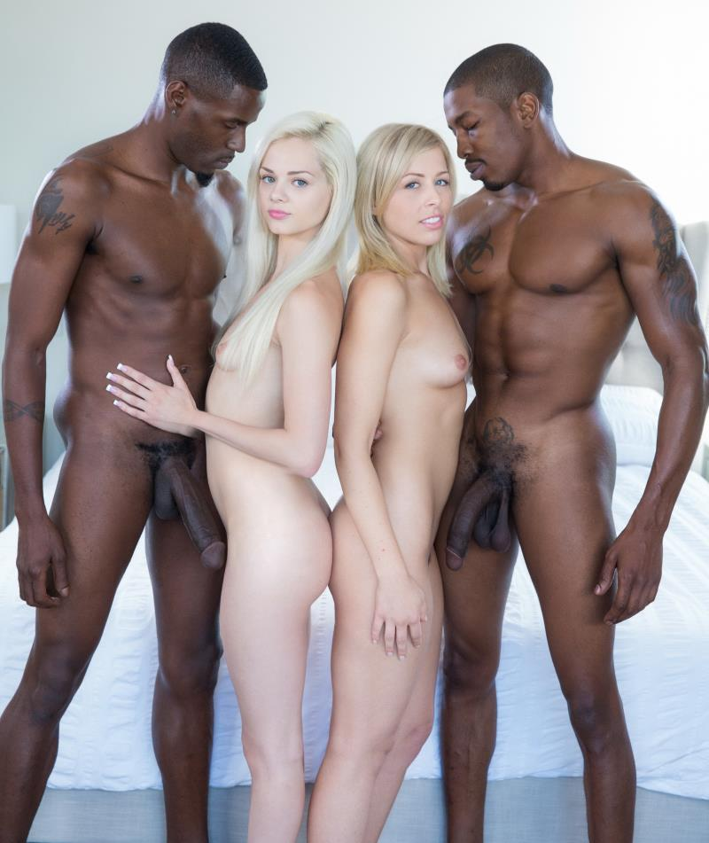 Blacked: Blonde Babes Enjoy BBC Foursome - Elsa Jean, Zoey Monroe [2018] (FullHD 1080p)