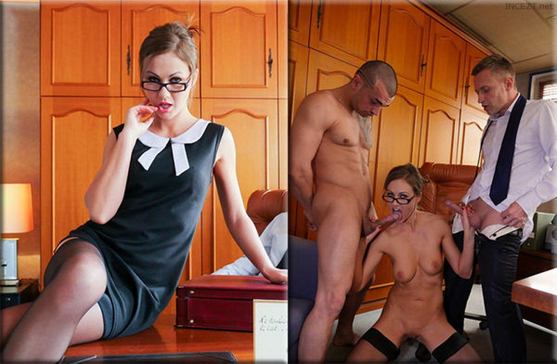 [PornDoePremium] - Tina Kay - MMF threesome and creampie in the classroom with British teacher (2018 / SD 480p)