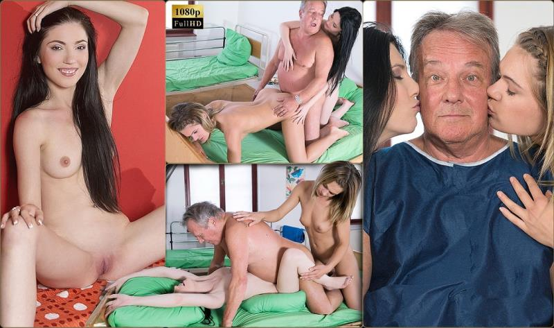 Mia Evans, Lara West - Double sex treatment (Oldje-3some) [FullHD 1080p]