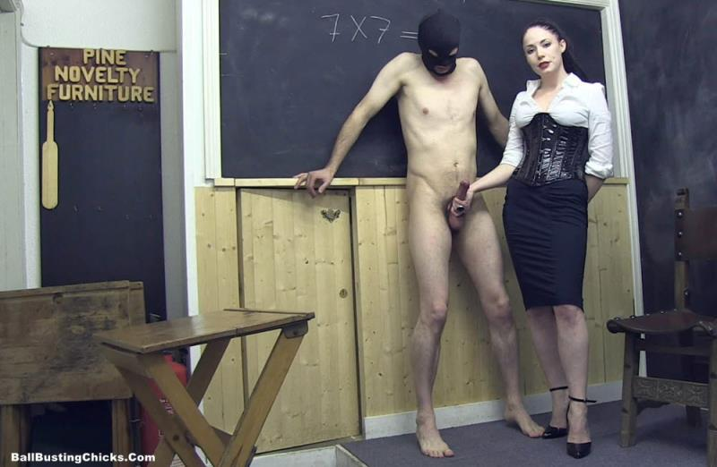 BallbustingChicks: Mistress Sophia Black Jerked Off In The Classroom [FullHD 1080p]