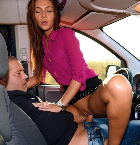 Alexis Brill, Alyssa Daniels, Tricia Teen - Orgy with Three Sexy Hitchhikers (HD)