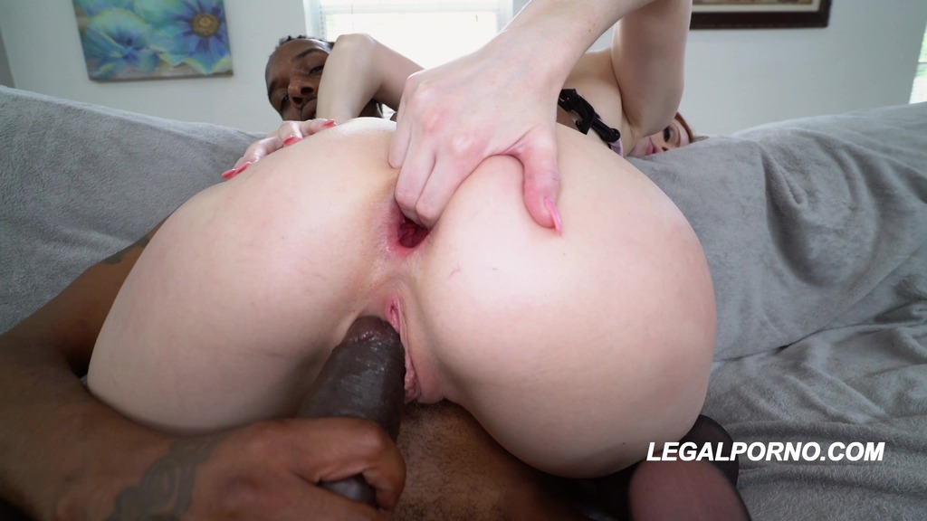 LegalPorno - American Anal - Bad Ass Alex Harper in her American Anal BBC DP Gapes Galore AA028