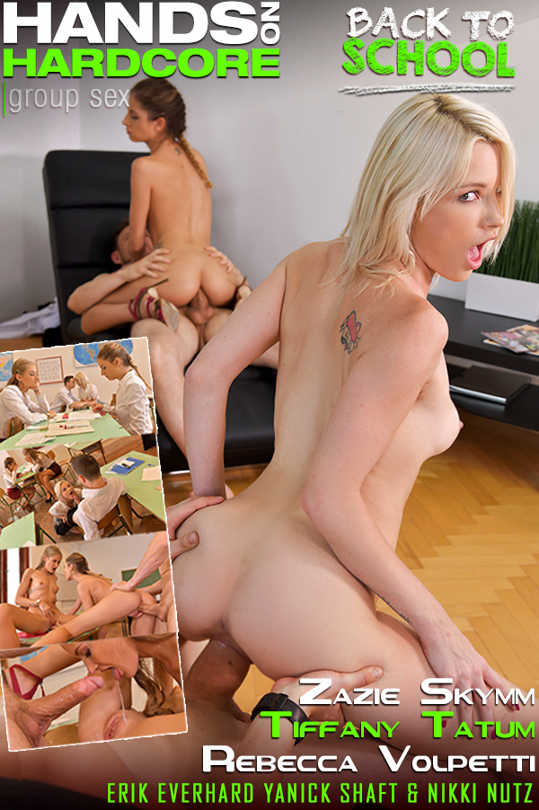 Rebecca Volpetti, Tiffany Tatum, Zazie Skymm - Back To Hardcore School (Anal) - HandsOnHardcore.com/DDFNetwork.com [SD 360p]