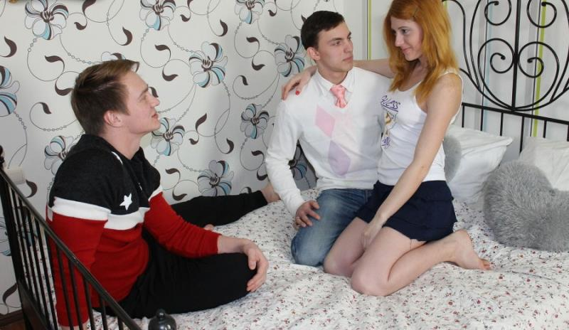 SellYourGF: Hot redhead teen fucked for cash - Kira, Brian & Paul [2018] (HD 720p)
