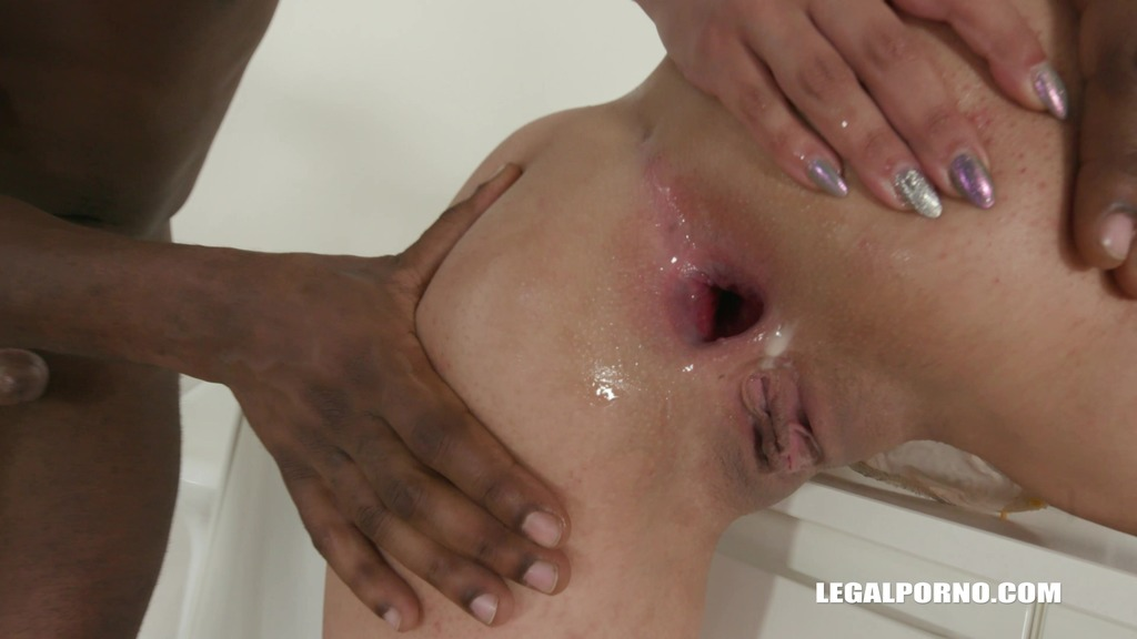 LegalPorno - Interracial Vision - Stacy Sommer is back for another black treatment with two cocks in the ass IV199
