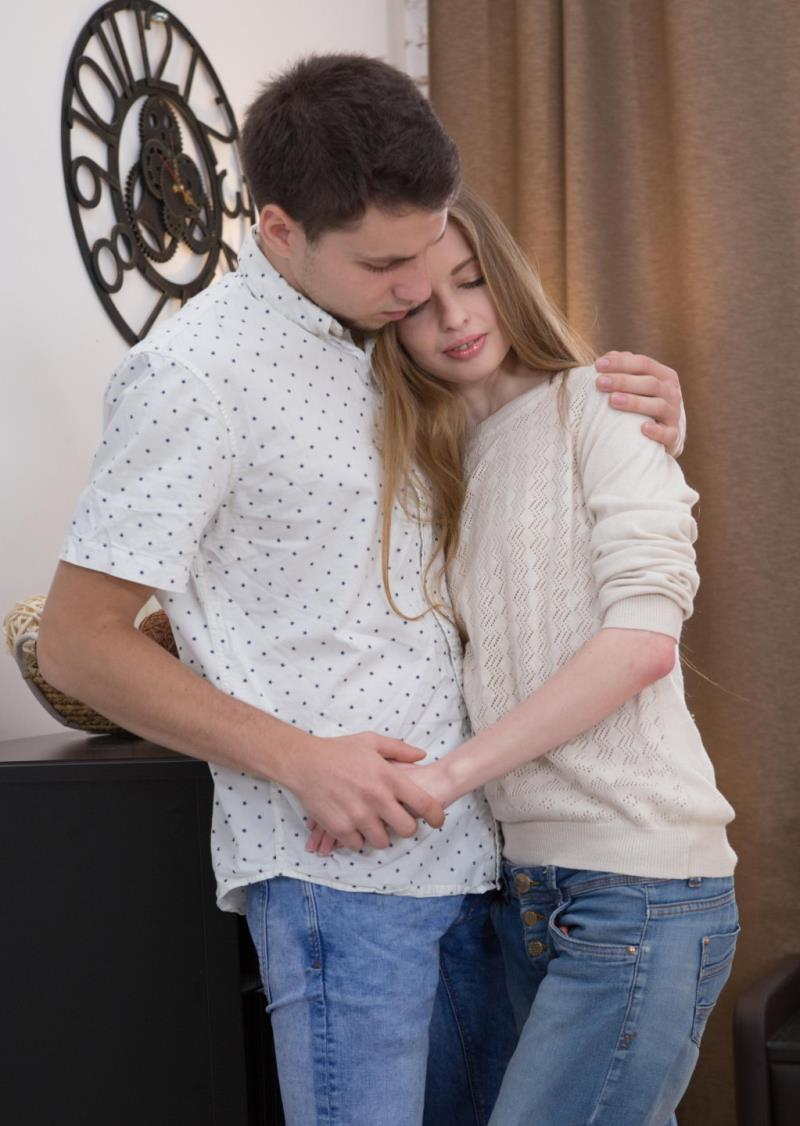 Adel Bye - Lad cums all over teen bottom (2018/SD)