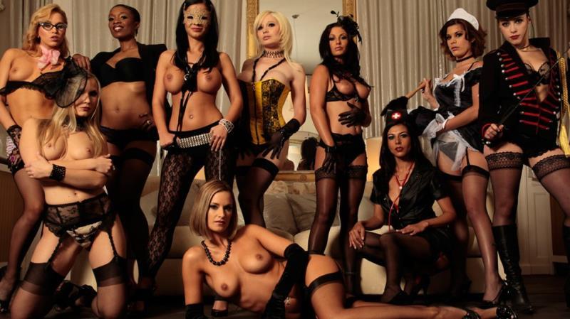 [DorcelClub] - Sabrina Sweet, Black Angelika, Lou Charmelle, Aleska Diamond - Costumes, champagne & anal sex - The Orgy by Herve Bodilis (2018 / FullHD 1080p)
