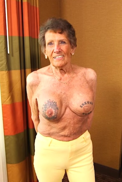 Granny Shirley in This 83 year old granny got