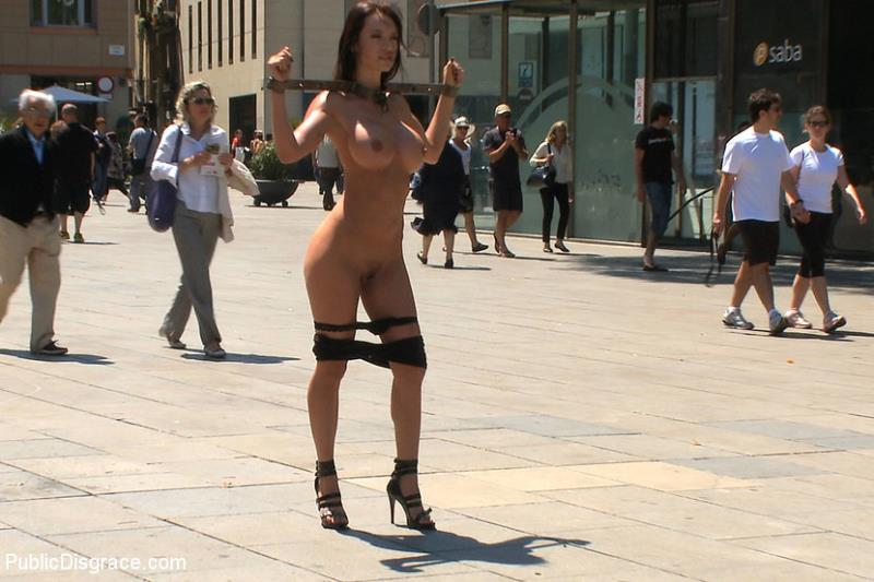 PublicDisgrace.com - Franceska Jaimes - Penthouse Pet Franceska Jaimes is Publicly Caned and Fucked [HD 720p]