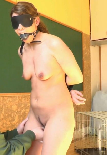 Caged Blowjob Slave Girl XXL
