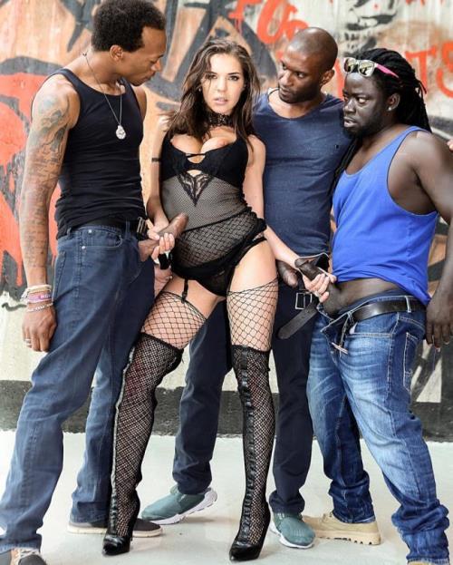 Henessy - Henessys Big Black Cock Gangbang
