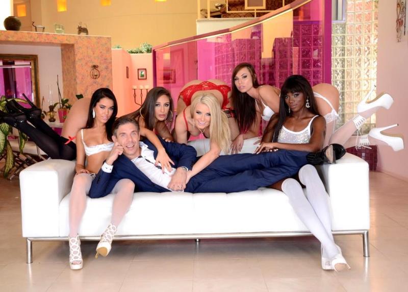 Megan Rain, Anikka Albrite, Abella Danger, Ana Foxxx, Aidra Fox, Mick Blue - Mick Blues Best Day Ever, Scene 3 (EvilAngel) HD 720p