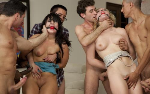 Ashli Orion, Lily LaBeau - Two Girl Gang Bang (HD)