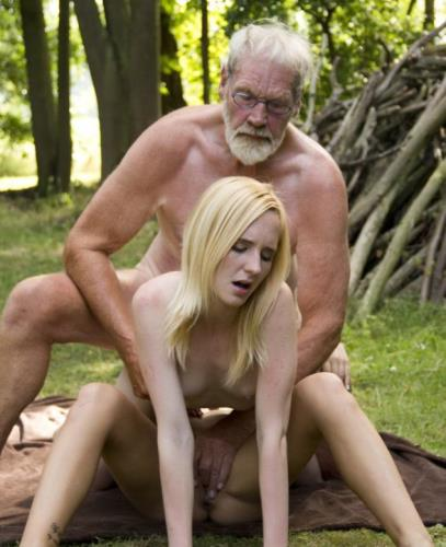 Alice, Nela Elmond - Threesome With an Old Woodcutters & Young Girls (HD)
