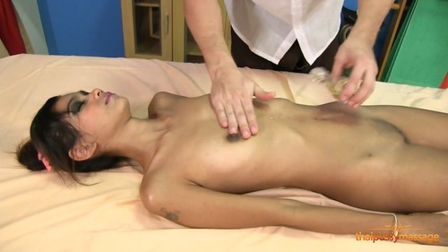Skinny Kitti 15.04.2018 [Asian, Thai, Skinny, Oil, Massage, Blowjob, All sex, Anal sex, Creampie, 1080p]