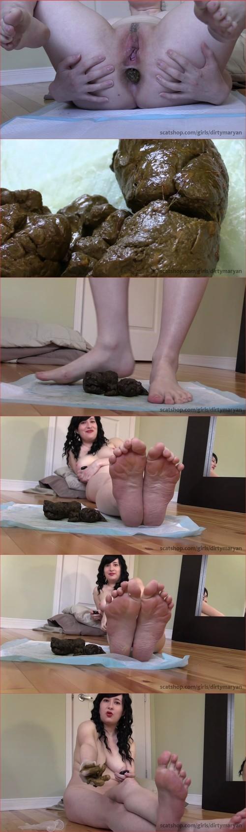 Goddess teases her foot fetish scat slave