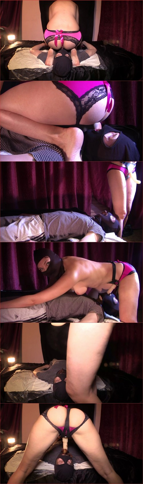 Mistress Diana takes a dump in her slaves mouth
