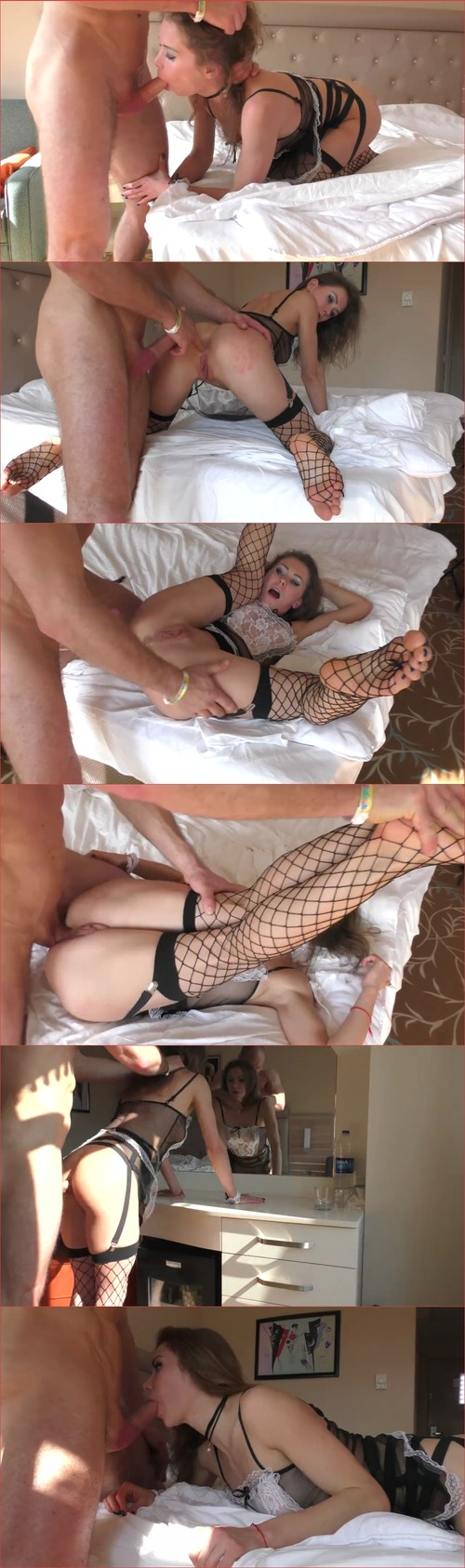 Mia Bandini - Hotel maid force Fucked cleaning windows with her tongue