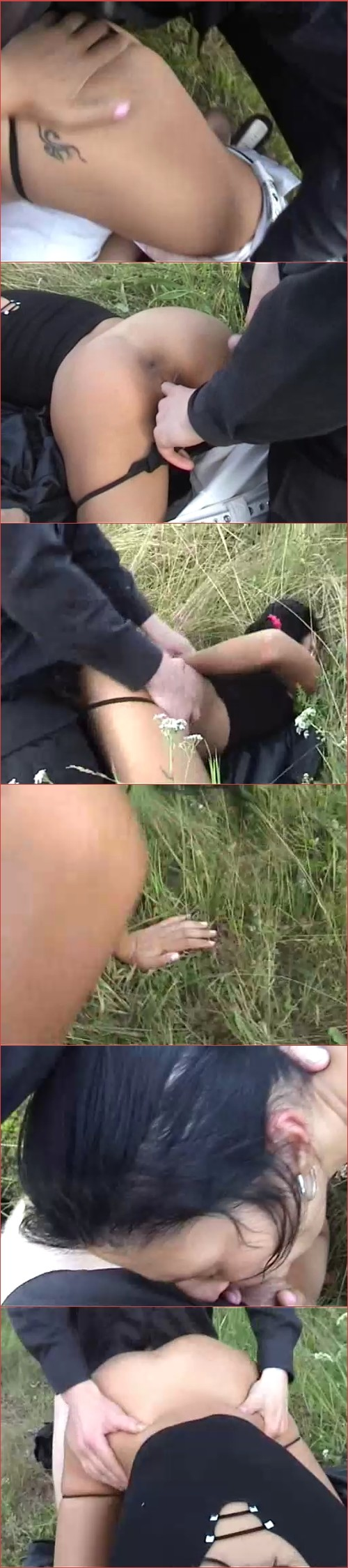 Sexy Teen hitchhiker gets brutally R@ped in the woods bobkina