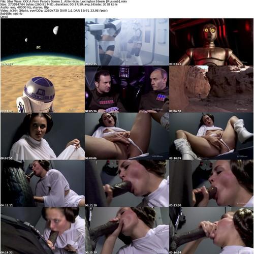 Star Wars Xxx A Porn Parody Scene 1  Allie Haze, Lexington Steele [rus Sub]