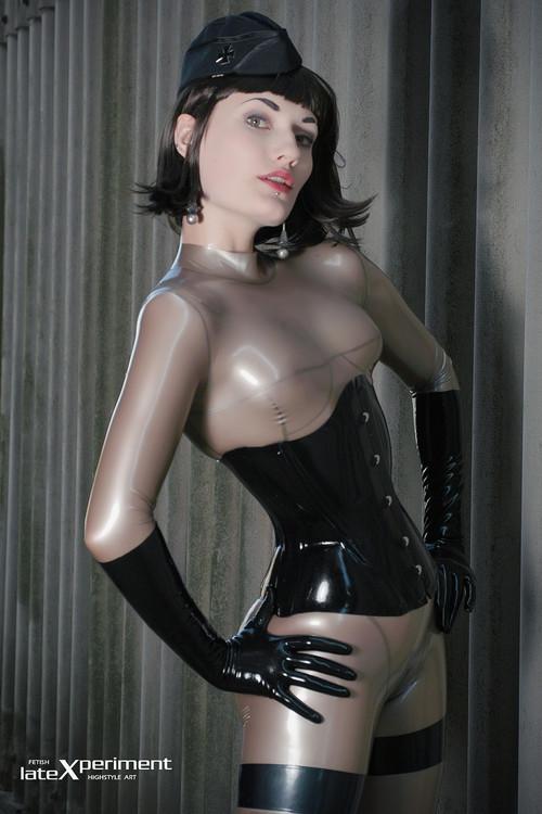 Transparent latex fetish