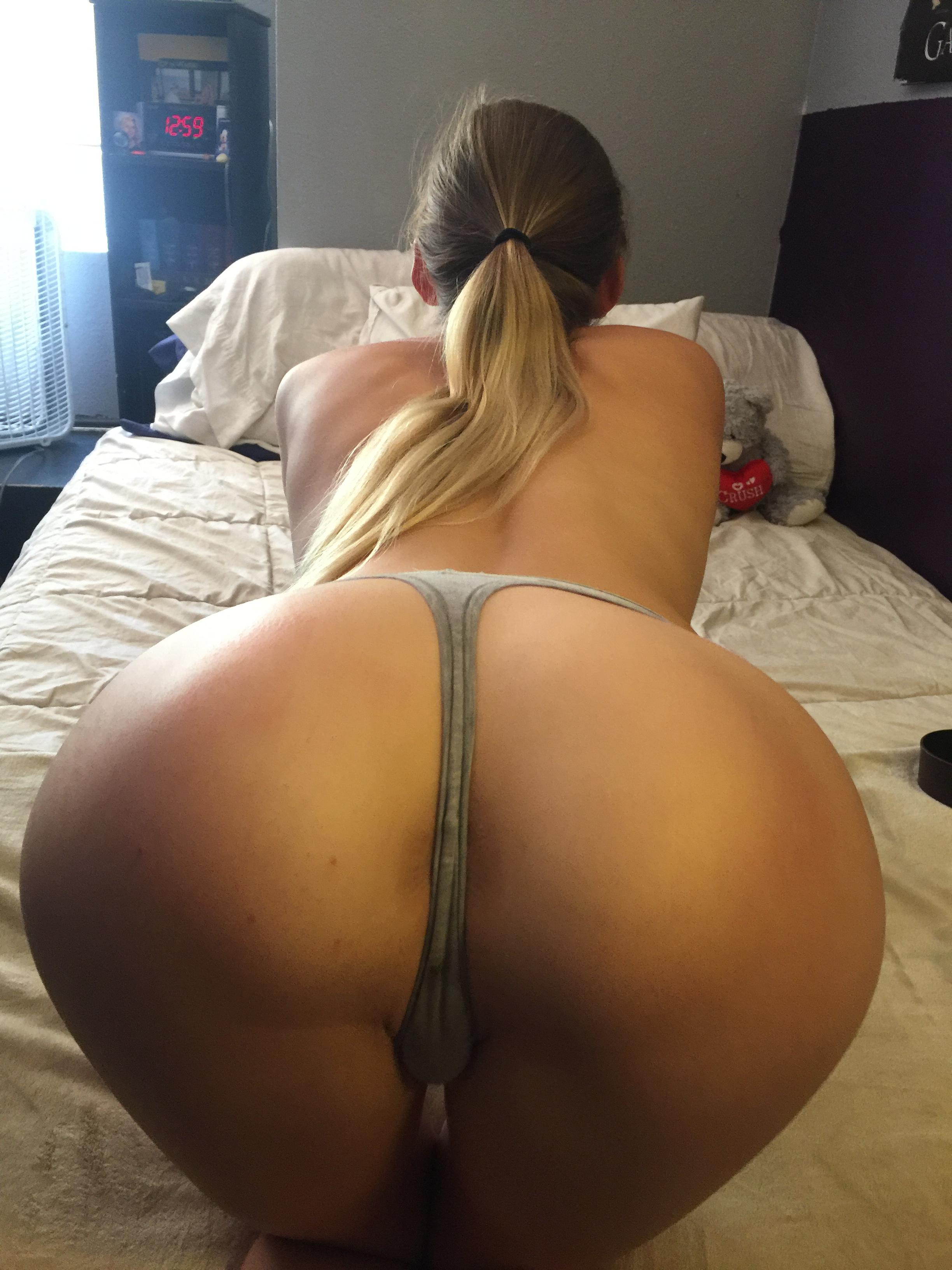 Doggy Style In Black Thong For Fan!!